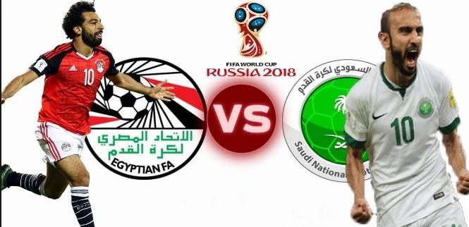 فوز المنتخب السعودي (2-1) في نتيجة مباراة مصر والسعودية اليوم لتوديع كاس العالم 2018