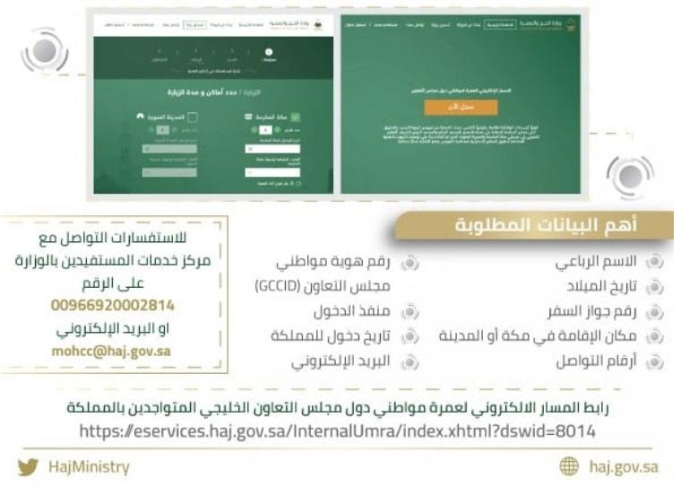 تقديم تأشيرة العمرة 1441